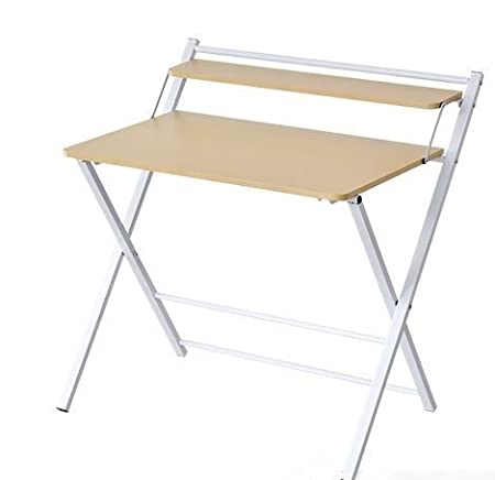 InnoFur Meleti Folding Study Desk/Foldable Office Table/Adjustable Laptop Desk Table (Beige)