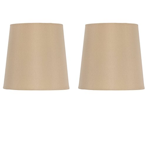 Upgradelights 5 Inch European Drum Style Chandelier Lamp Shade in Antique Gold Silk (Set of 2). 4x5x5