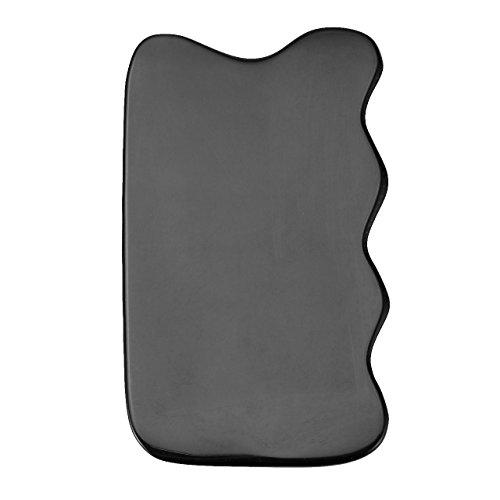 悪因子連鎖インシュレータJovivi Mak カッサリフトプレート ブラック 牛角 パワーストーン カッサ板 美顔 カッサボード カッサマッサージ道具 ギフトバッグを提供 (波状)