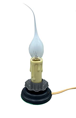 Creative Hobbies Rustic Country Candle Lamp, 5 in, On/Off Switch, Metal Trim, Plug-in