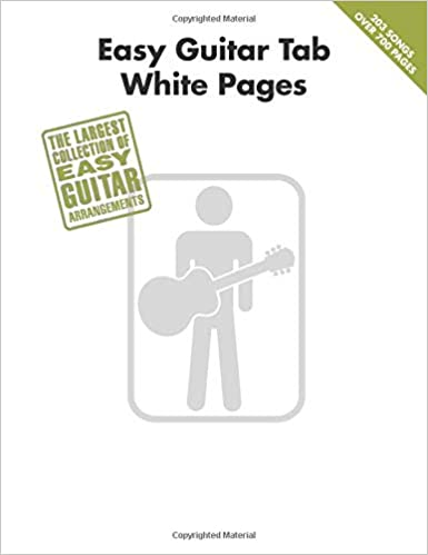 Amazon com: Easy Guitar Tab White Pages (0884088499396): Hal