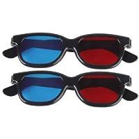 kakooze Adult Plastics Red/Blue 3D Glasses Anaglyph Glasses,Black (2)