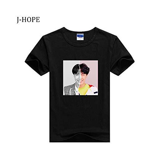 - Kpop BTS Bangtan Boys Concert Love Yourself Answer Tshirt Jimin V Short Sleeve Tops T-Shirt Tee Shirt (M, J-Hope Black)