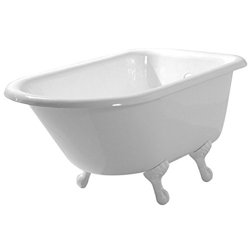 (Randolph Morris 48 Inch Cast Iron Classic Clawfoot Tub - No Drillings - Ball and Claw Feet)