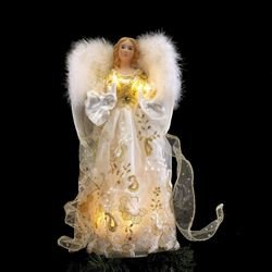Kurt Adler UL 10 Light 14-Inch Gold Angel Treetop (Kurt Adler Angel Tree Topper)