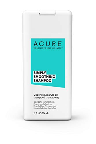 ACURE Simply Smoothing Shampoo - Coconut Water & Marula Oil | 100% Vegan | Performance Driven Hair Care | Smooths & Reduces Frizz | 12 Fl Oz
