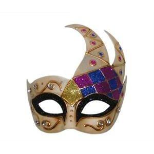 Tanday Emerald Mardi Gras Harlequin Party Mask #(7016) ()