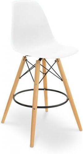 Tabouret de bar DSW Charles Eames Style Polypropylène Matt