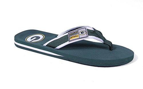Forever Collectibles Officially Licensed NFL Contour Flip Flops - Happy Feet and Comfy Feet Green Bay Packers VAAC0lGup1
