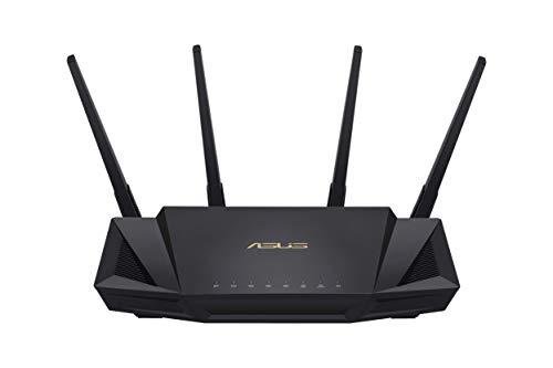 ASUS RT-AX58U – Router WiFi 6 AX3000 160Mhz Doble Banda Gigabit (OFDMA, MU-MIMO, 1024QAM, QoS, Cliente y Servidor VPN…