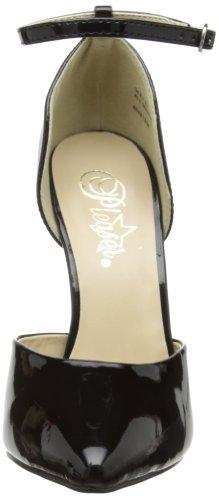 Pleaser EU-SEXY-21 - Zapatos de tacón de material sintético mujer negro - Schwarz (Blk pat)
