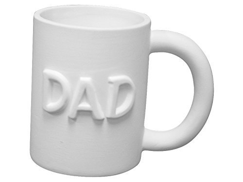 Dad Mug For Father's Day - Paint Your Own Ceramic - Unfinished Low-Fire Ceramic Bisque - Paint-a-Potamus