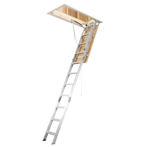 Werner AH2210 Universal Attic - Wooden 8ft Ladder