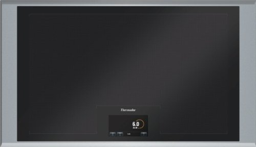 """CIT36XKB Masterpiece Series 36"""" Wide Freedom Induction Cooktop Full Surface Cooking Auto Shut-Off Timer Child Safety Lock Hot Surface Indicator Light: Stainless"""