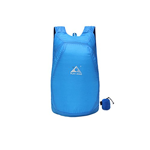 Beautyrain Ultraleicht Daypack Packbar Faltbare wasserdichte leichte Reise Camping Wandern Taschen Rucksack Multi Color Für Frauen Männer Blau o98nEvG13