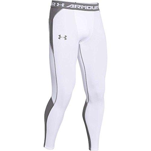 Under Armour HeatGear ArmourVent Compression Legging - Men's White / Graphite / Graphite XL