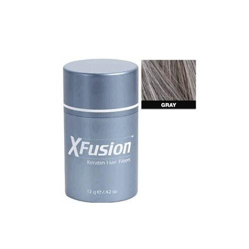 (XFusion Keratin Hair Fibers Regular, Gray .42 ounces)