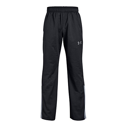 UNDER ARMOUR boys Brawler 2.0 Training Pants, Black (001)/Steel, Youth Large (Boys Lightweight Sweatpants)