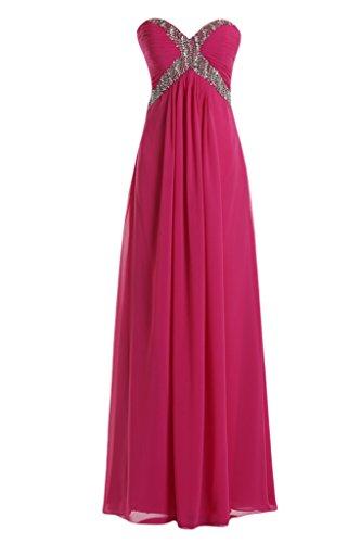 Toscana Modern a forma di cuore Chiffon Rueckenfrei stanotte sposa vestimento lunga un'ampia Party ball vestimento viola 48