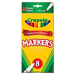 - Crayola 8ct Classic Fine Markers