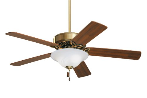 Emerson Ceiling Fans CF712AB Pro Series Indoor Ceiling Fan With Light, 50-Inch Blades, Antique Brass Finish ()