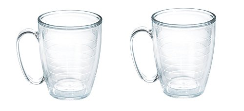 - Tervis Tumbler Clear 16 oz Mug With Handle, Set Of 2