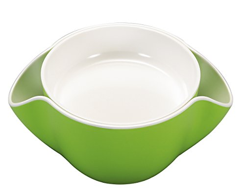 kody Double Dish for Pistachios, Peanuts, Edamame, Cherries, Nuts, Fruits, Candies, Snacks Plastic Serving Dishes and Bowls (Pistachio Green)