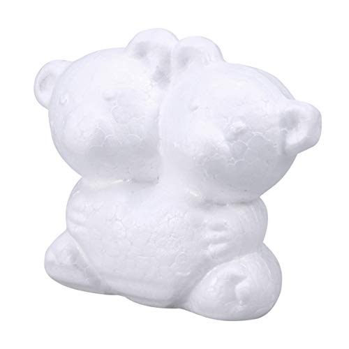 (Amosfun 10pcs Polystyrene Styrofoam Modelling Foam Bear Shapes Molds for Crafts DIY Wedding Couple Ornament Rose Bear Flower Arrangements Decoration Gifts)