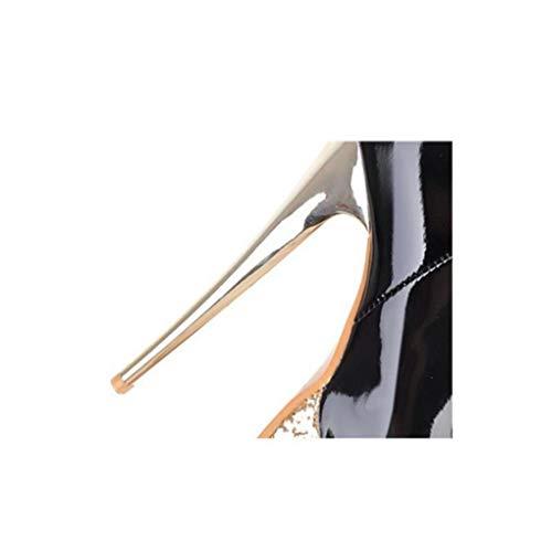 A Donna Tacco Night Oversize Club Piccolo Tondo Stivali Ginocchio Tacco Con Sottogonna Il Codice Black Impermeabile Alto Piattaforma Sexy GONGFF Sopra Da Stivali XwqIX1