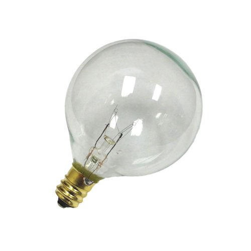 Sival G50 Globe Light Bulb, 7 Watts, candelabra (E12) base, 2