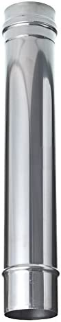 Tubo de acero inoxidable DN 130 mm L-1000 chimenea ZP gartinex tubo