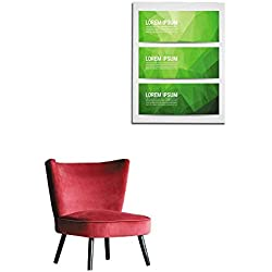 """longbuyer Wall Picture Decoration Web Banner Header Layout Template with Abstract Green Triangle Pattern Background Mural 16""""x20"""""""