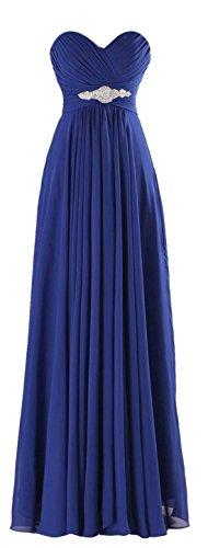 long strapless blue multi dress - 8
