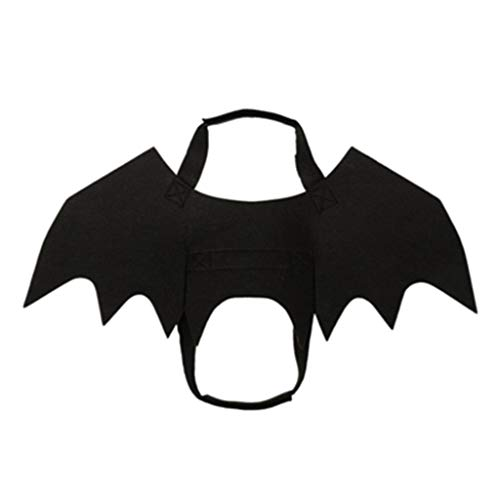 (Brand New Arrival Funny Dog Felines Cosplay Costume Halloween Dog Bat Wings Dogs Softball bat Vest Fit Party Canines Playing Pet Frence Bulldog Pug)