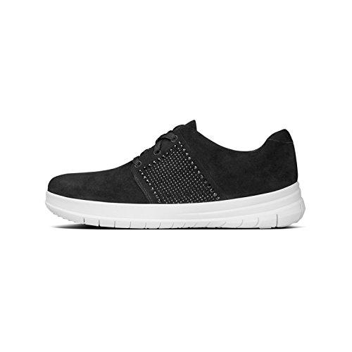 Black en de Fitflop Negro 001 de Sneaker mujer ante negro H8wqxOZxnt