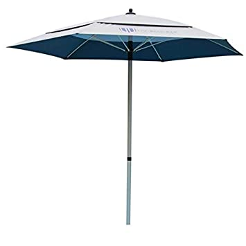 UV-Blocker Large Beach Umbrella with 55 UPF UV Protection and Heavy Duty Anchor