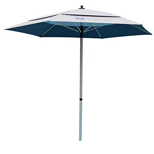 UV-Blocker Large Beach Umbrella with 55 UPF UV Protection and Heavy Duty Anchor