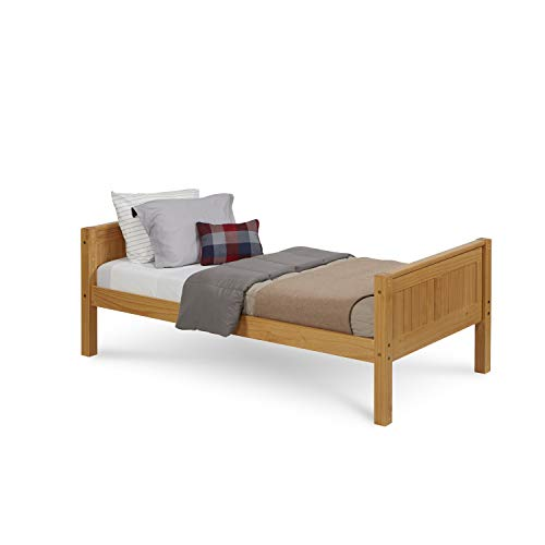 Camaflexi Panel Style Solid Wood Platform Bed, Twin, Natural