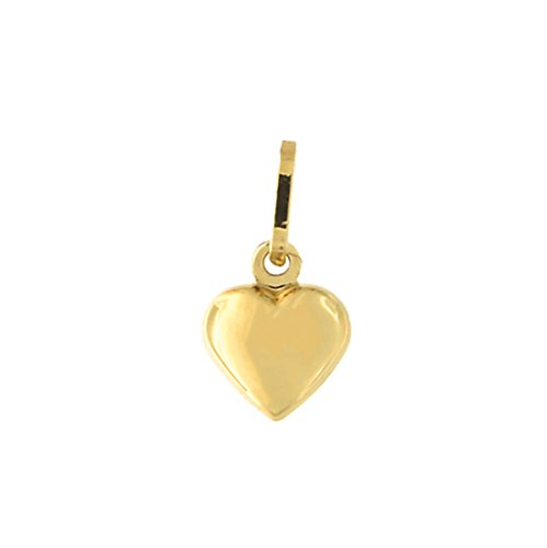 - 14k Yellow Gold Tiny Puffed Heart Pendant