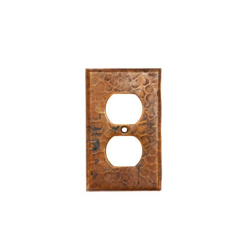 Premier Copper Products SO2_PKG2 Copper Switchplate Single Duplex, 2 Hole Outlet Cover - Quantity 2, Oil Rubbed Bronze