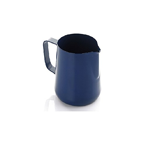 Blue Teflon Coated Milk Frothing Jug (600ml) A1 Coffee