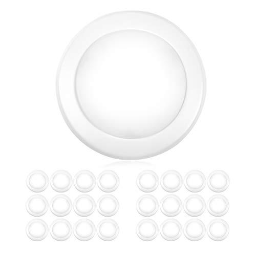 5  6 u201d dimmable led disk light flush mount ceiling fixture