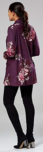 Chelsea Menue Fleurs Avec Motifs Violet Femme Clark Manches 552z Veste Manteau Longues 7qgrqWOIS