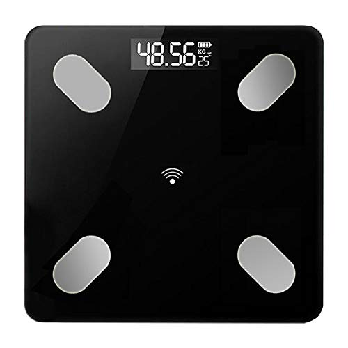 MG554zy0 Home Smart Body Monitor LED Display Bluetooth APP BMI Weighing Electronic Scale Home Smart Body Monitor LED Display Bluetooth Black