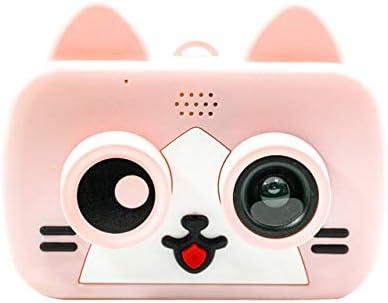 少年少女のための子供のおもちゃのカメラHDビデオ8MPデジタルカメラビデオカメラ用のカメラは、32ギガバイトのマイクロSDカードを付属します (Color : Pink)