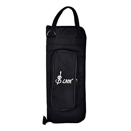 Buytra Drumstick Bag Case Drum Stick Holder Percusssion Drum Mallet Bag with External Pocket and Floor Tom Hooks, - Drumstick Tom Floor Bag