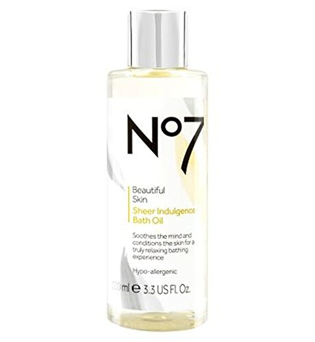 No7美しい肌透け耽溺のバスオイル (No7) (x2) - No7 Beautiful Skin Sheer Indulgence Bath Oil (Pack of 2) [並行輸入品]   B01MRGW0NI