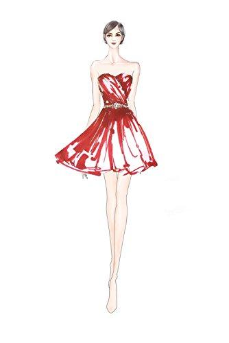 Chiffon Abschlusskleid Bride Liebling Heimkehrkleider Pailette Strass Damen Abendkleid Tinte Kurze Milano Blau Herzform q4taHwtxf