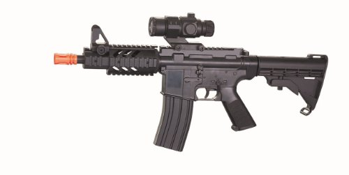 well cqb m4 ris aeg electric rifle fps-250 collapsible stock airsoft gun(Airsoft Gun)