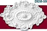 30 1/2 Inch by 20'' Oval Ceiling Medallion Decorative White Primed Polyurethane #596 By Designer's Edge Millwork
